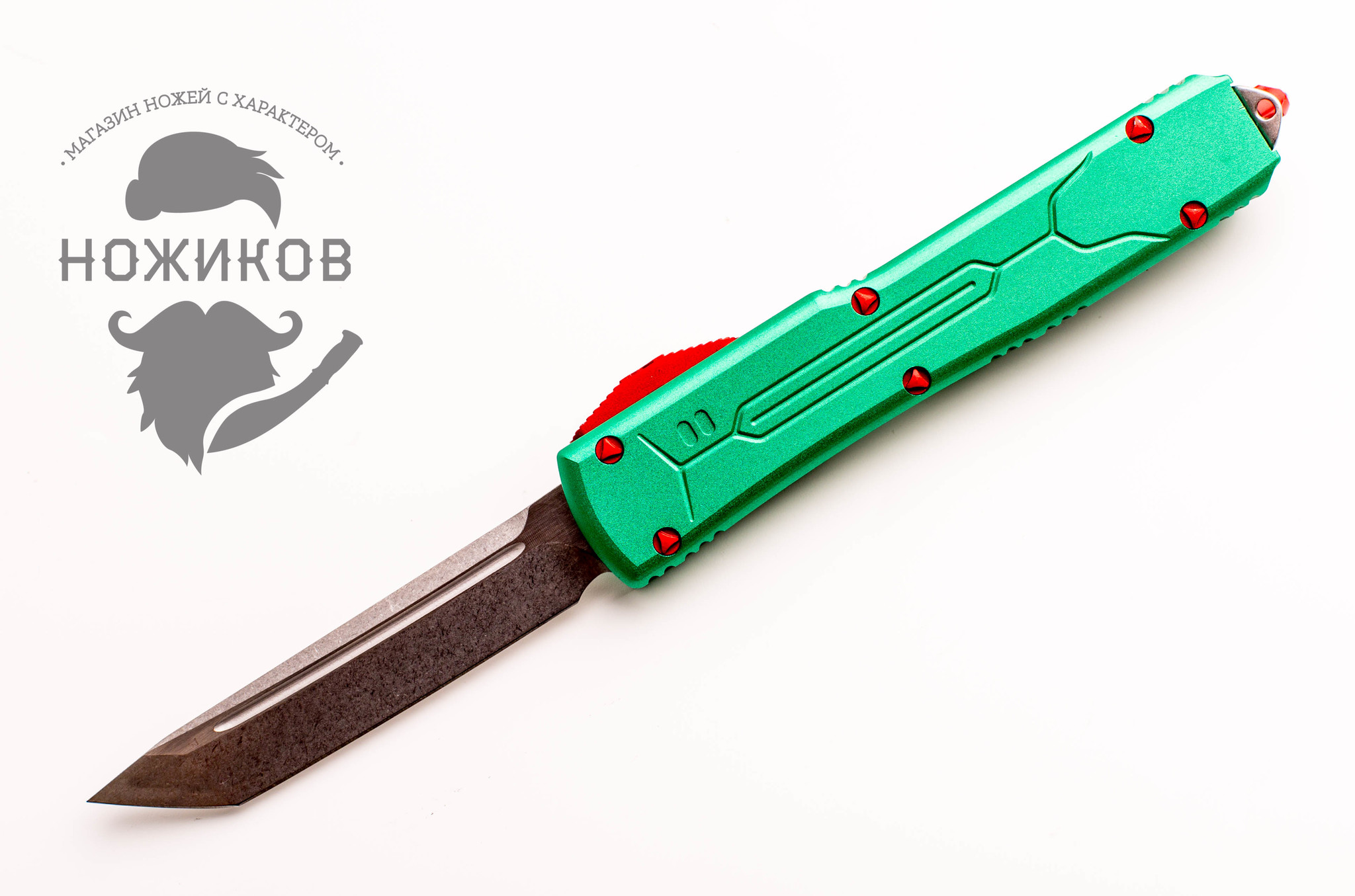 Нож Microtech UltraTech Green Replica, сталь D2 автоматический нож microtech troodon tanto replica