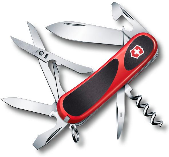 Нож перочинный Victorinox EvoGrip 14 2.3903.С 85мм 14 функций красно-чёрный нож перочинный victorinox evogrip 14 2 3903 с 85мм 14 функций красно чёрный