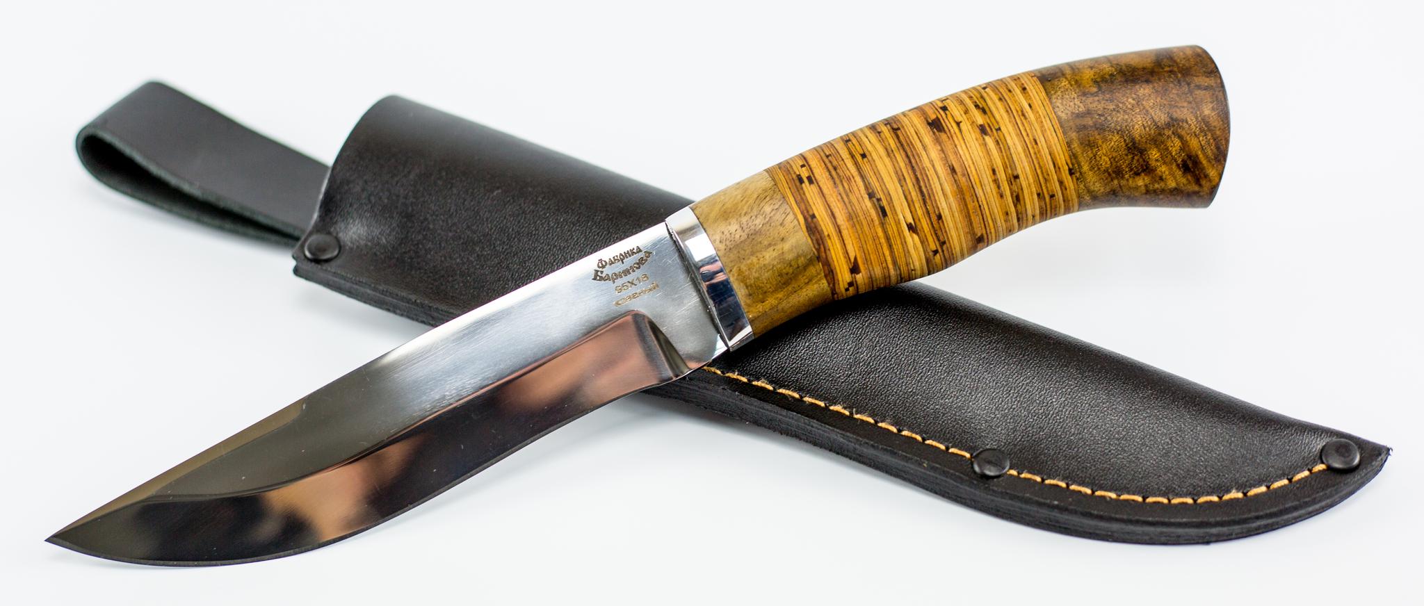 Фото 11 - Нож Южный-2 в бересте, 95Х18 от Фабрика Баринова