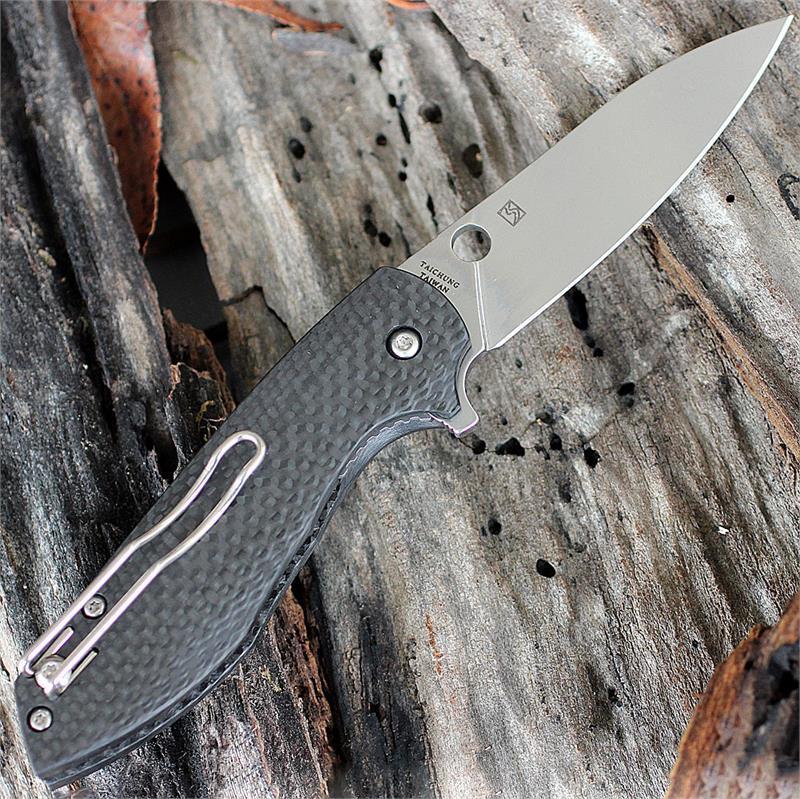 Фото 7 - Нож складной Spyderco Positron C195CFP, сталь CPM-S30V, рукоять карбон