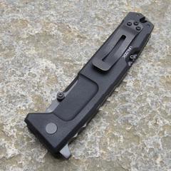 Складной нож Extrema Ratio Nemesis Black (Ruvido Handle), сталь Böhler N690, рукоять черный антикородал (алюминиевый сплав), фото 3