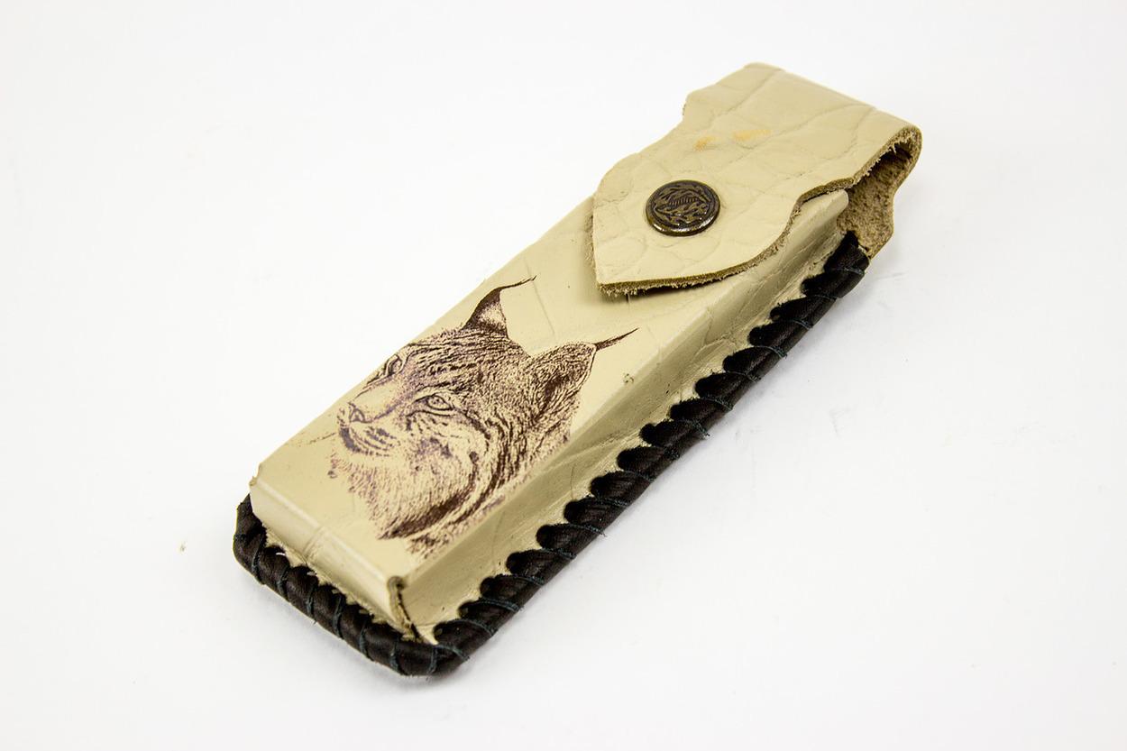 Кожаный чехол для складного ножа с рисунком, 130 мм от Кузница Семина