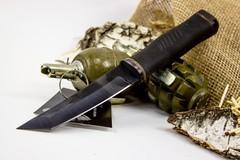 Нож Кабан-1М, сталь 65Г, резина, фото 2