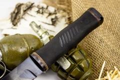 Нож Кабан-1М, сталь 65Г, резина, фото 4