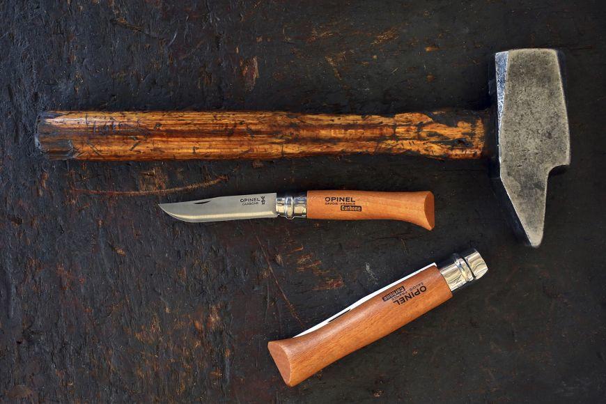 Фото 9 - Нож складной Opinel №7 VRN Carbon, углеродистая сталь, рукоять бук