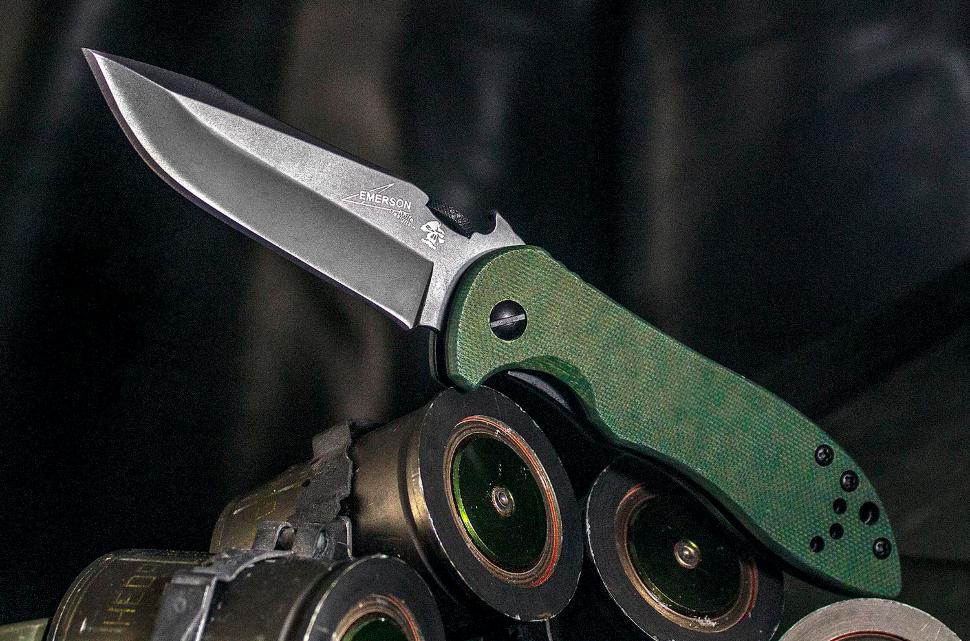 Фото 3 - Складной нож Kershaw Emerson CQC-5K K6074OLBLK, сталь 8Cr14MoV, рукоять G-10
