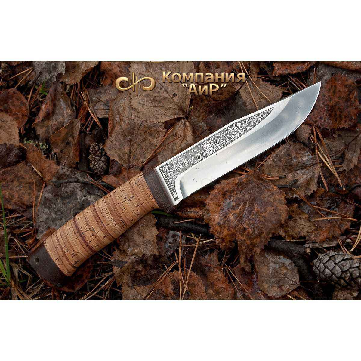Фото - Нож АиР Турист, сталь 110х18 М-ШД, рукоять береста нож аир хазар сталь 110х18 м шд рукоять кожа