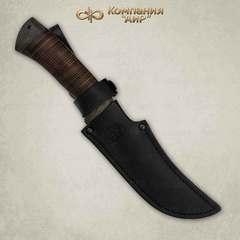 Нож Клык, кожа, сталь  Elmax, фото 2