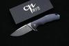 Складной нож CH3504 сталь S35VN,цвет синий - Nozhikov.ru