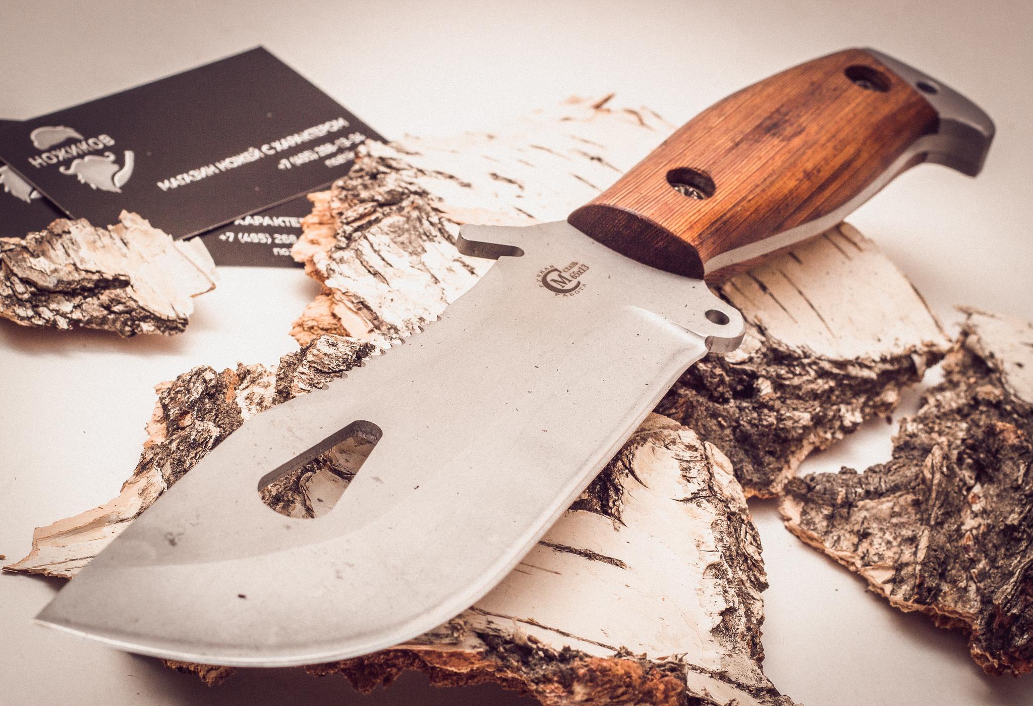 Фото 13 - Нож для выживания «Воин», из нержавеющей стали 65х13 от Кузница Семина
