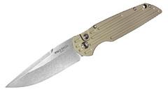 Автоматический складной нож Tactical Response 3 Desert Sand Handle Stonewash Blade