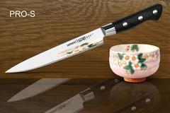 Нож кухонный Samura PRO-S для нарезки - SP-0045, сталь AUS-8, рукоять G10, 200 мм, фото 2