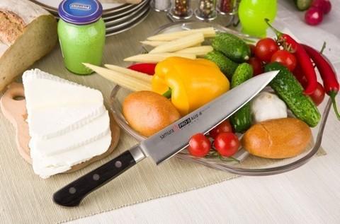 Нож кухонный Samura PRO-S для нарезки - SP-0045, сталь AUS-8, рукоять G10, 200 мм. Вид 3