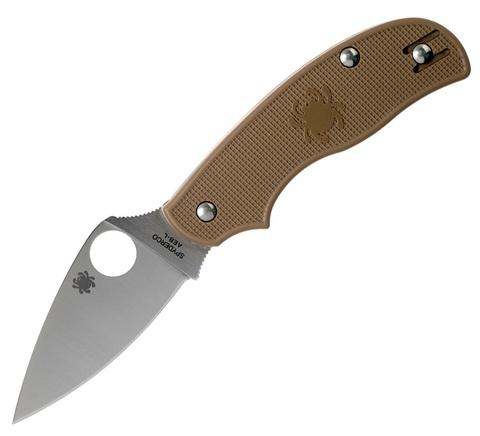 Складной нож Spyderco Urban SPRINT RUN C127PBN, сталь AEB-L Satin Plain, рукоять пластик FRN, коричневый. Вид 1
