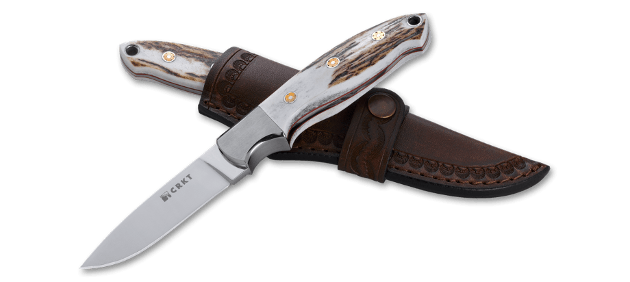 Фото 9 - Нож с фиксированным клинком CRKT Brow Tine, сталь 9Cr18MoV, рукоять Резной олений рог
