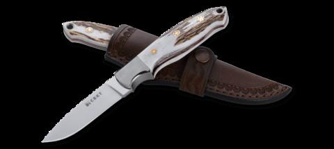 Нож с фиксированным клинком CRKT Brow Tine, сталь 9Cr18MoV, рукоять Резной олений рог. Вид 3