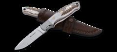 Нож с фиксированным клинком CRKT Brow Tine, сталь 9Cr18MoV, рукоять Резной олений рог, фото 3