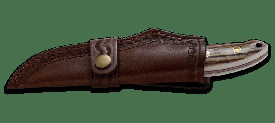 Фото 10 - Нож с фиксированным клинком CRKT Brow Tine, сталь 9Cr18MoV, рукоять Резной олений рог