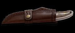 Нож с фиксированным клинком CRKT Brow Tine, сталь 9Cr18MoV, рукоять Резной олений рог, фото 4