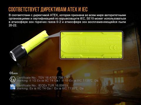 Фонарь Fenix SE10 Cree XP-E2 (R3). Вид 5