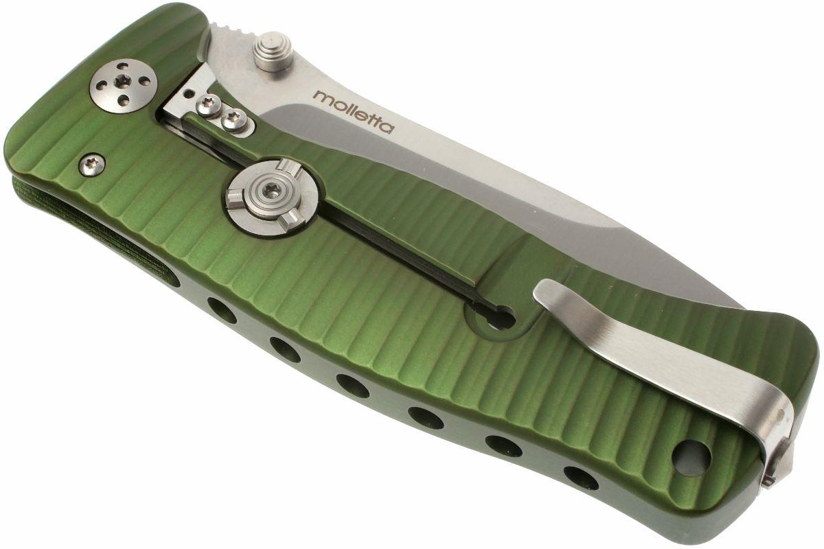 Фото 13 - Нож складной LionSteel SR1A GS GREEN, сталь D2 Satin Finish, рукоять алюминий (Solid®), зелёный от Lion Steel