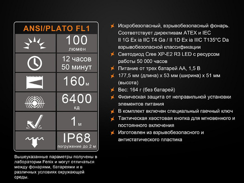 Фонарь Fenix SE10 Cree XP-E2 (R3). Вид 10