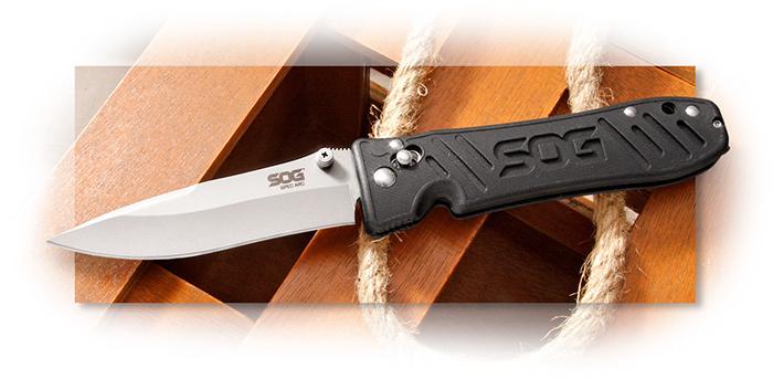 Фото 8 - Складной нож с фиксатором Spec Arc - SOG SE15, сталь VG-10, рукоять пластик GRN