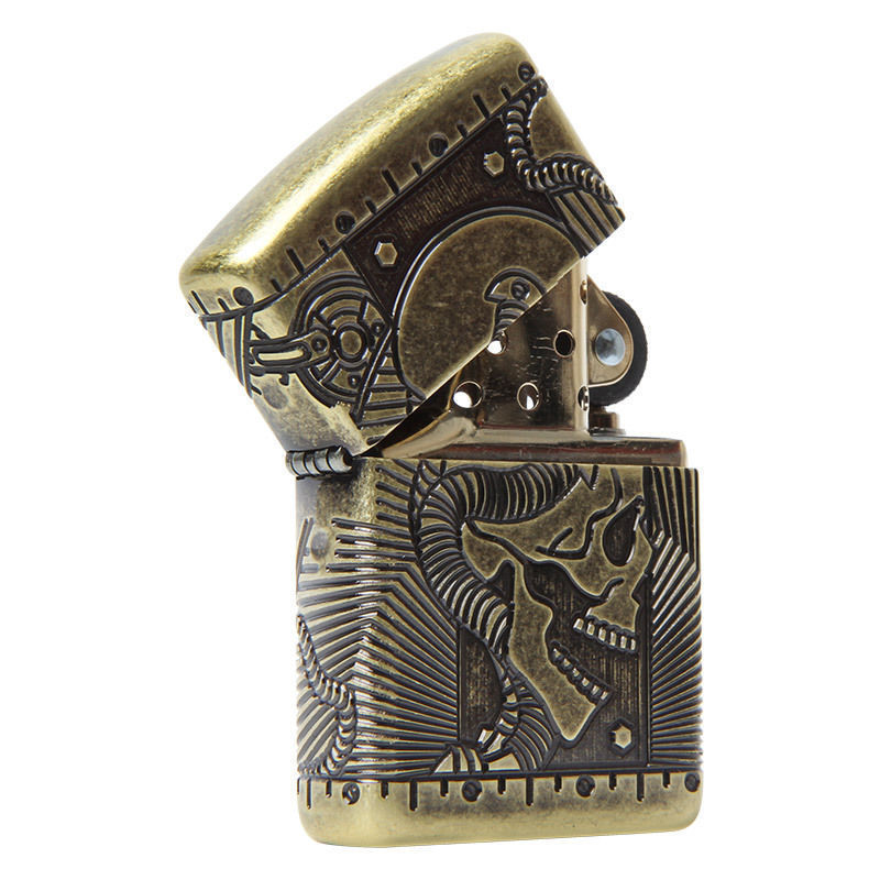 Зажигалка ZIPPO Armor™ с покрытием Antique Brass, латунь/сталь, медная, матовая, 36x12x56 мм antique brass kitchen taps single handle faucet antique kitchen faucet torneira cozinha