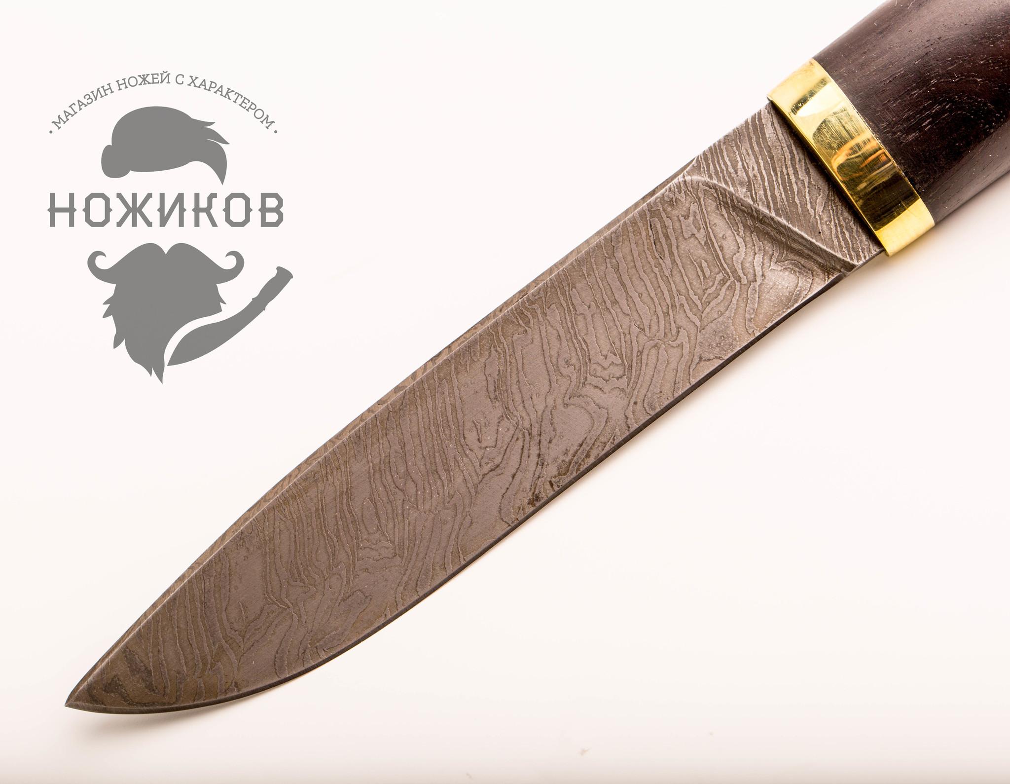 Фото 11 - Нож Тайга, дамасская сталь от Промтехснаб