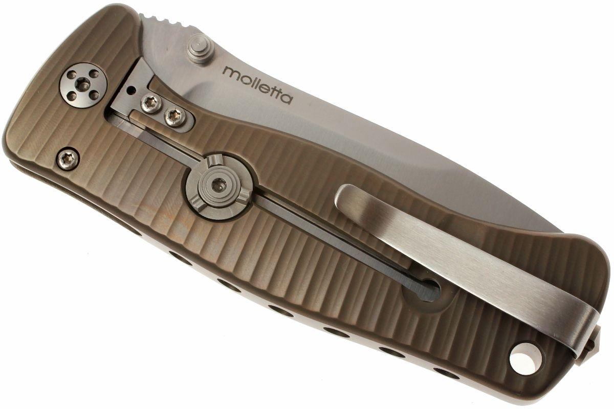Фото 10 - Нож складной LionSteel SR2 B (BRONZE) Mini, сталь Uddeholm Sleipner® Satin, рукоять титан по технологии Solid®, бронзовый от Lion Steel