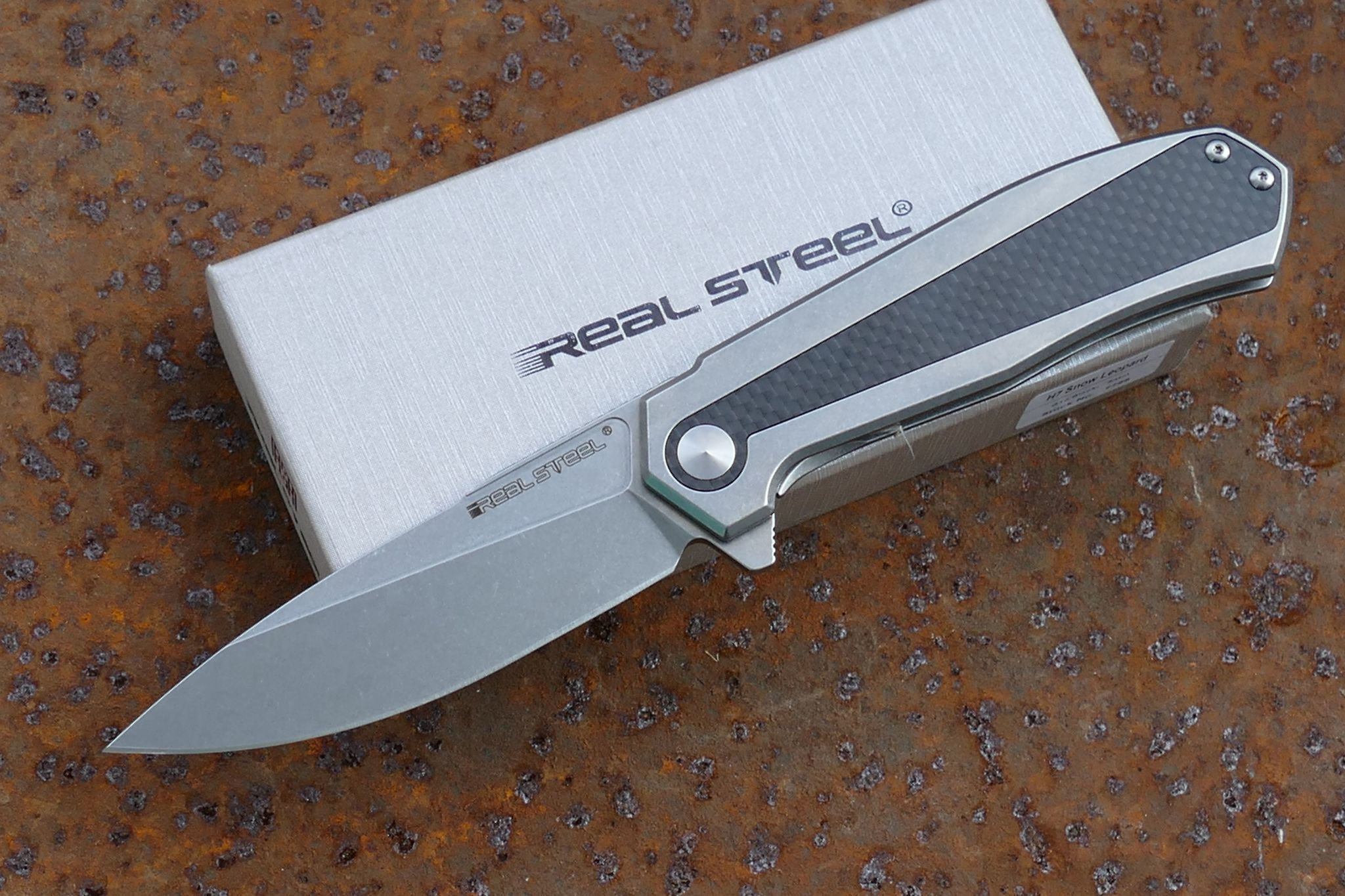 Нож Flying shark, stonewash от Realsteel
