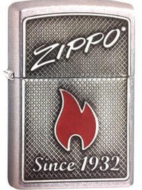 Зажигалка ZIPPO Classic с покрытием Street Chrome, латунь/сталь, серебристая, матовая, 36x12x56 мм зажигалка zippo classic с покрытием cerulean™ латунь сталь синяя глянец 36x12x56 мм