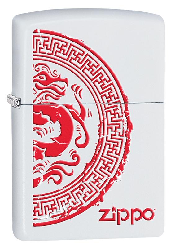 Зажигалка ZIPPO Classic с покрытием White Matte, с рисунком зажигалка zippo classic с покрытием meadow™