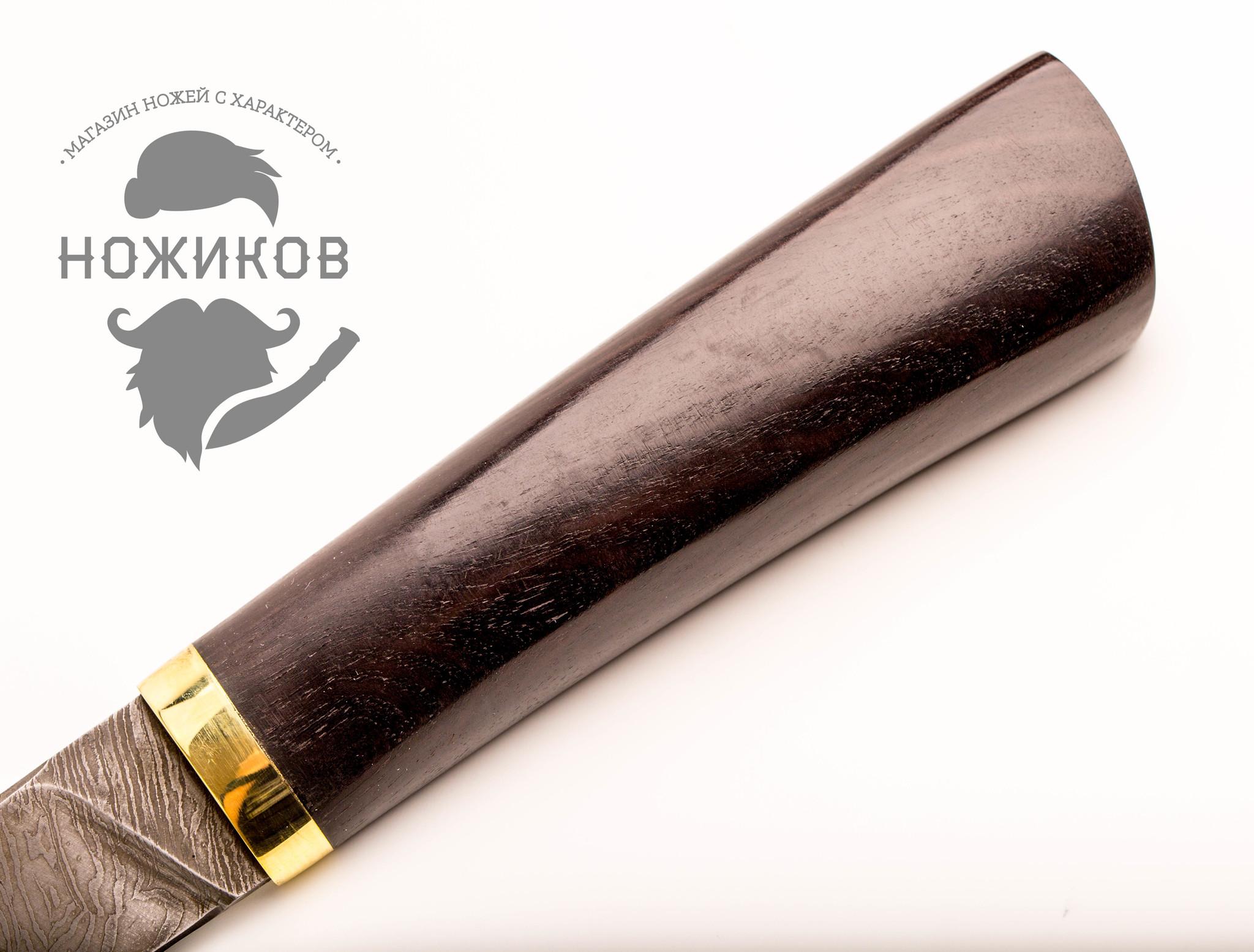 Фото 12 - Нож Тайга, дамасская сталь от Промтехснаб