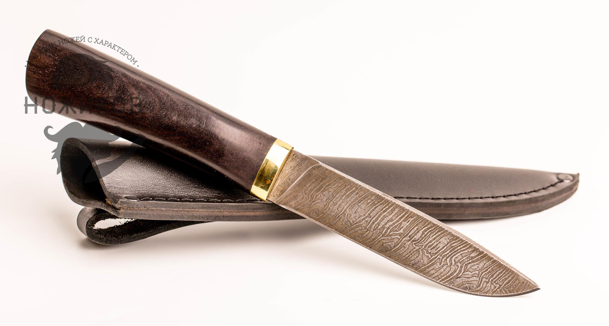 Фото 13 - Нож Тайга, дамасская сталь от Промтехснаб