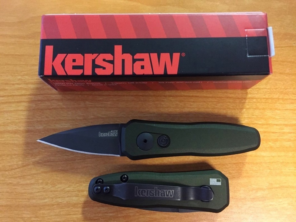 Фото 3 - Складной автоматический нож Kershaw Launch 4 OD Green K7500OLBLK, сталь CPM 154, рукоять алюминий