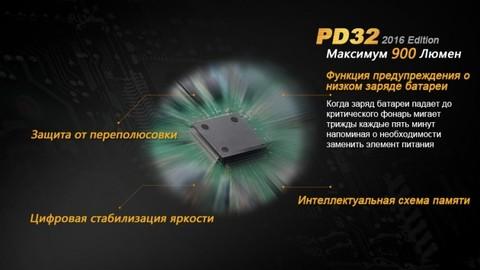 Фонарь Fenix PD32 Cree XP-L HI white LED. Вид 5