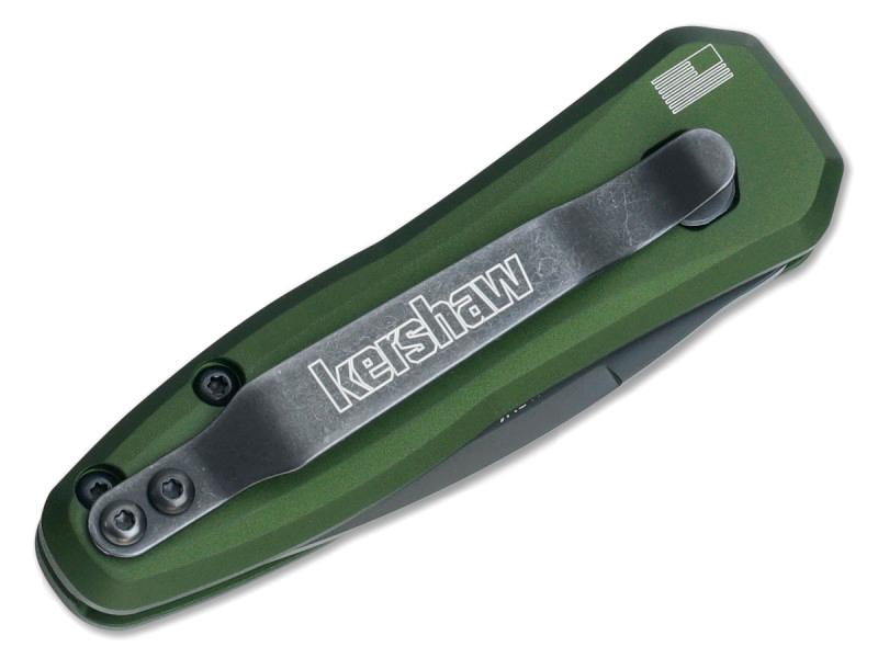 Фото 5 - Складной автоматический нож Kershaw Launch 4 OD Green K7500OLBLK, сталь CPM 154, рукоять алюминий