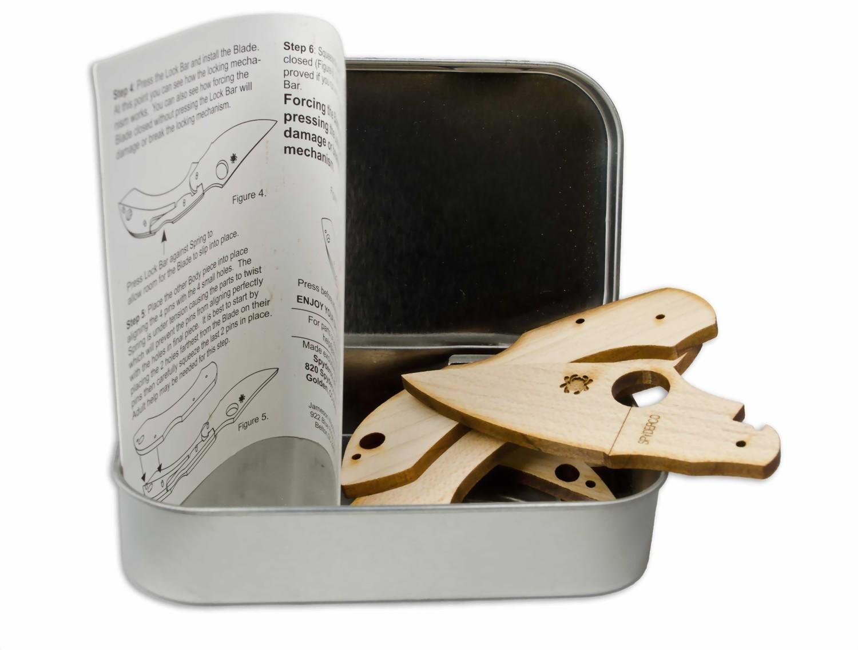 Фото 12 - Сувенирный складной нож (дерево) Dragonfly Wooden Kit, WDKIT1 от Spyderco