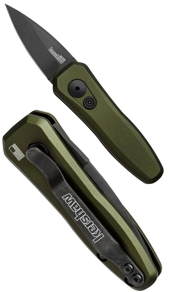 Фото 11 - Складной автоматический нож Kershaw Launch 4 OD Green K7500OLBLK, сталь CPM 154, рукоять алюминий