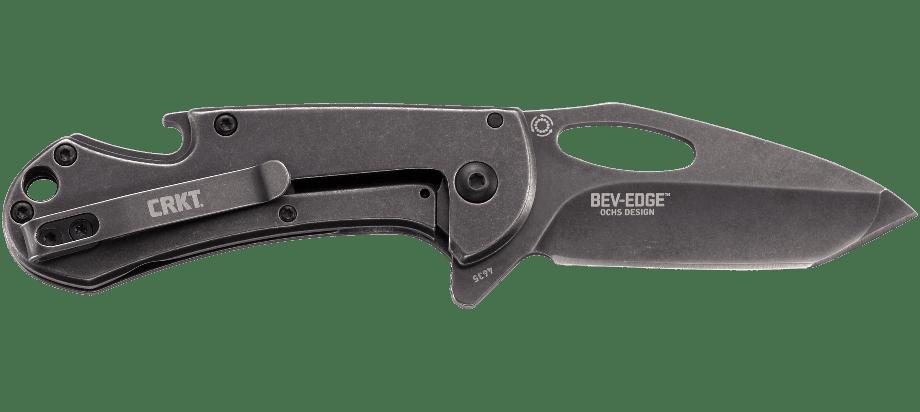 Фото 7 - Складной нож CRKT Bev-Edge, сталь 8Cr13MoV, рукоять нержавеющая сталь, Stonewash