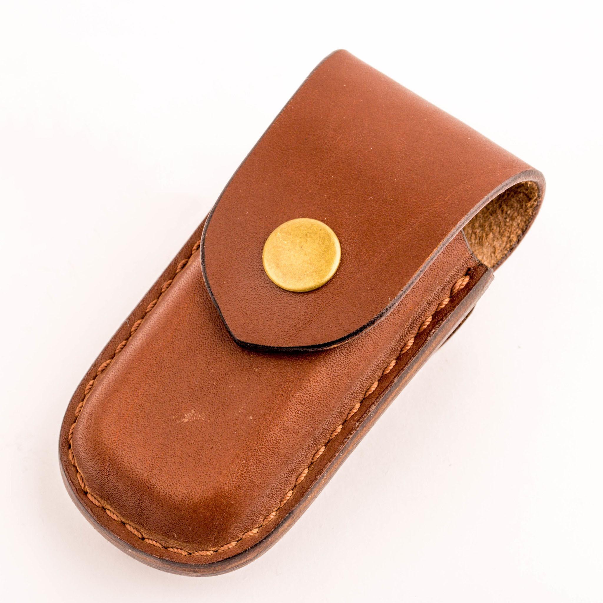 Чехол для складного ножа Шора, размер 100х35х18 мм, коричневый от Петербургская шорная мастерская