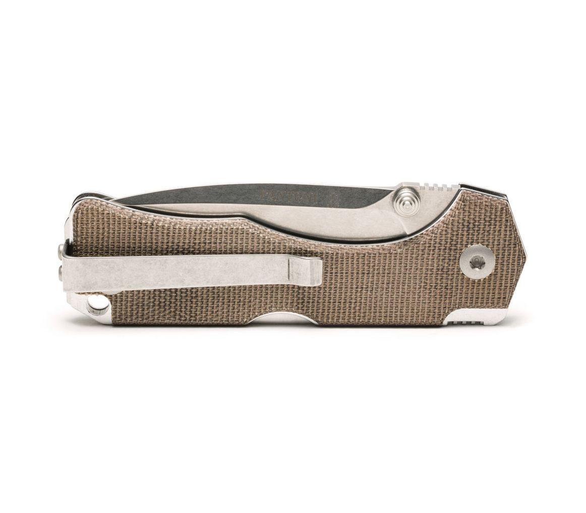 Фото 8 - Нож складной Hide Folder, Green Micarta Scales, Crucible CPM® S30V™, Tommaso Rumici Design 7.5 см. от Fantoni