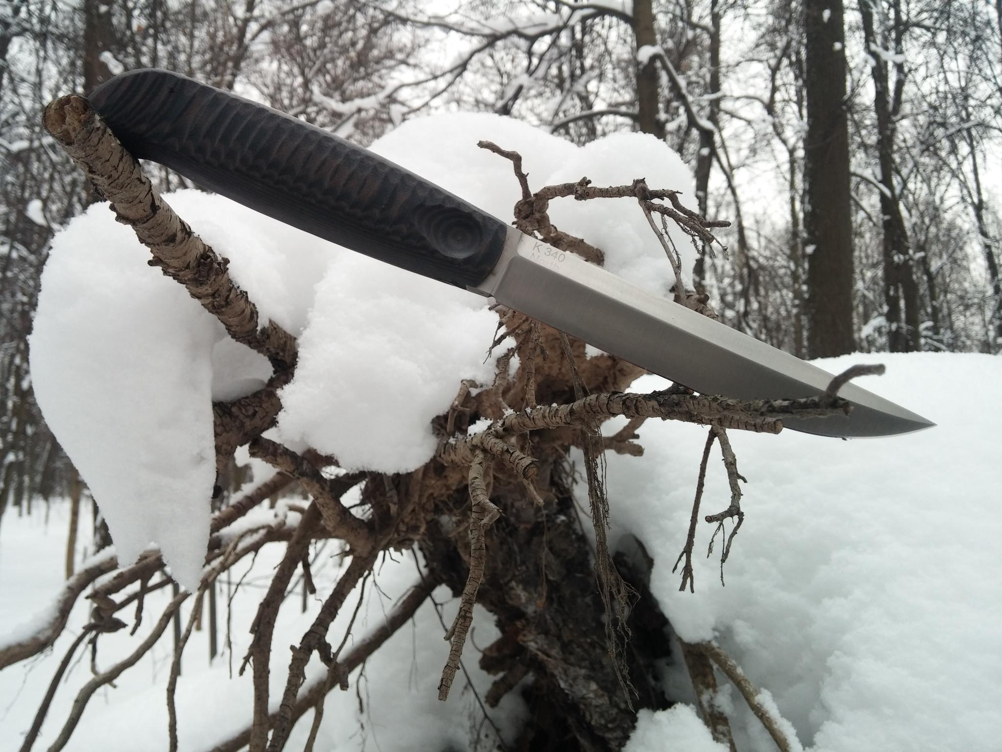 Фото 7 - Финка с грибком и каплей North, N690 от Owl Knife