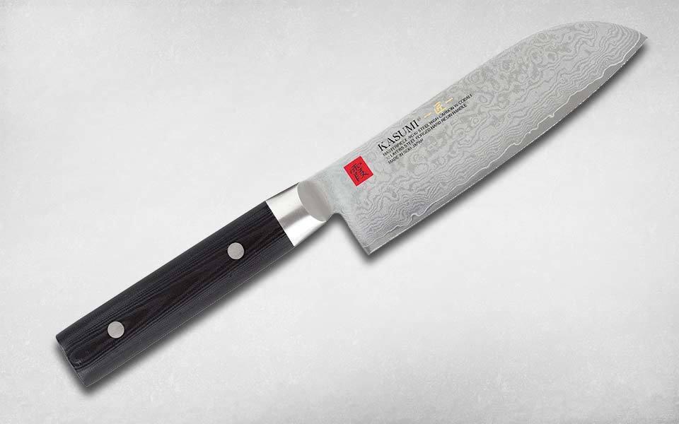 Нож кухонный Сантоку Damascus Masterpiece 130 мм, Kasumi, 94013, сталь дамаск, микарта, чёрный