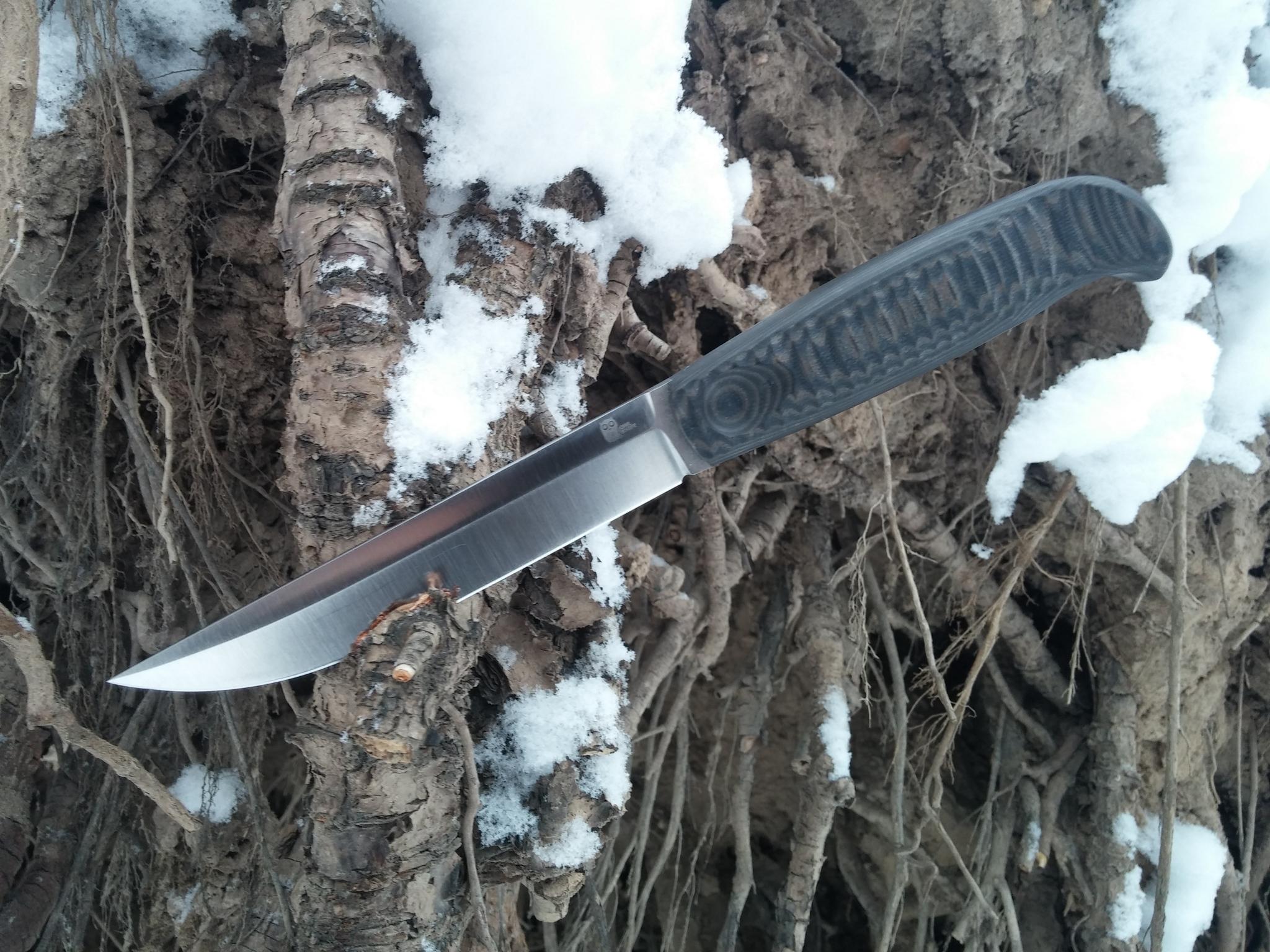 Фото 6 - Финка с грибком и каплей North, N690 от Owl Knife