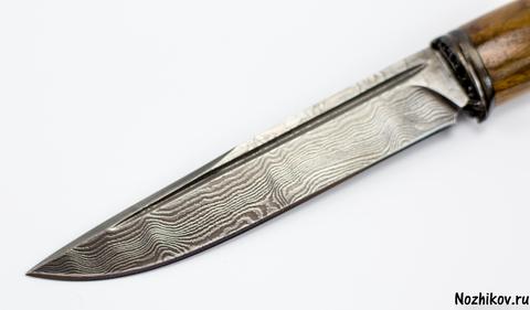 Авторский Нож из Дамаска №11, Кизляр. Вид 3