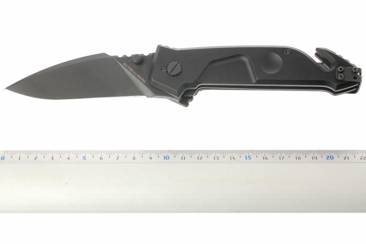 Фото 7 - Складной нож Extrema Ratio MF1 Black With Belt Cutter, сталь N690, рукоять алюминий