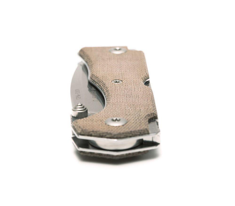 Фото 11 - Нож складной Hide Folder, Green Micarta Scales, Crucible CPM® S30V™, Tommaso Rumici Design 7.5 см. от Fantoni