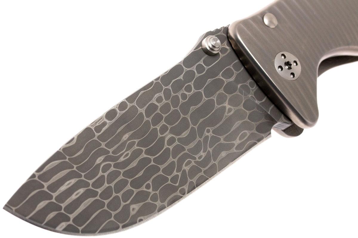 Фото 10 - Нож складной LionSteel SR2DL G Mini, сталь клинка дамасская сталь Chad Nichols Damascus